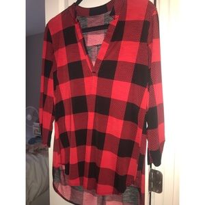 Comfy Plaid top from VICI